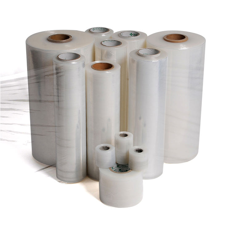 Accepatable OEM manufacturer price mini machine hand jumbo roll plastic packing pallet wrapping lldpe stretch wrap film
