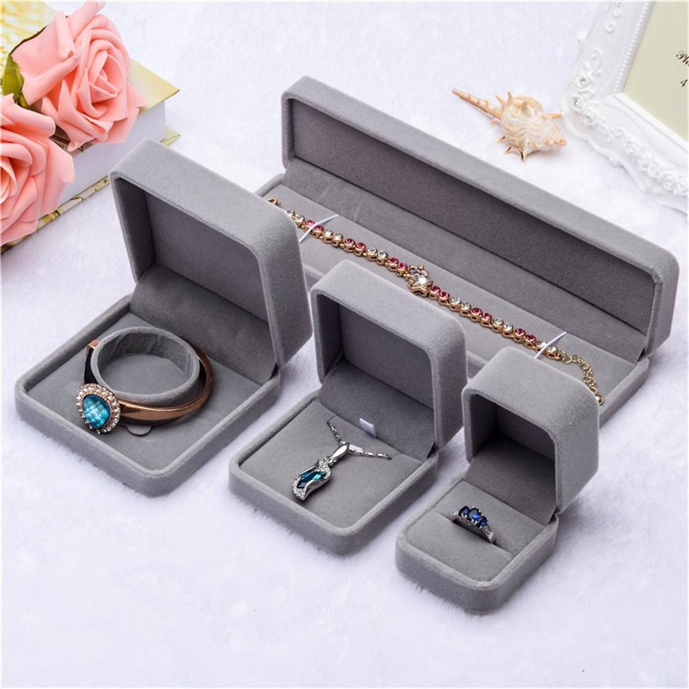 HPXmas Fashion Jewelry Gift Packaging Boxes Necklace Box Jewelry Velvet Ring Box Wholesale