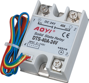 AOYI 24v ac single phase solid state variable relais DTS-10A-24V