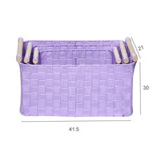 Factory wholesale home  nylon webbing storage basket organizer