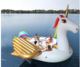 Oversized giant unicorn floating row PVC water party 6 people mount Rainbow Pegasus floating floating island on the water
