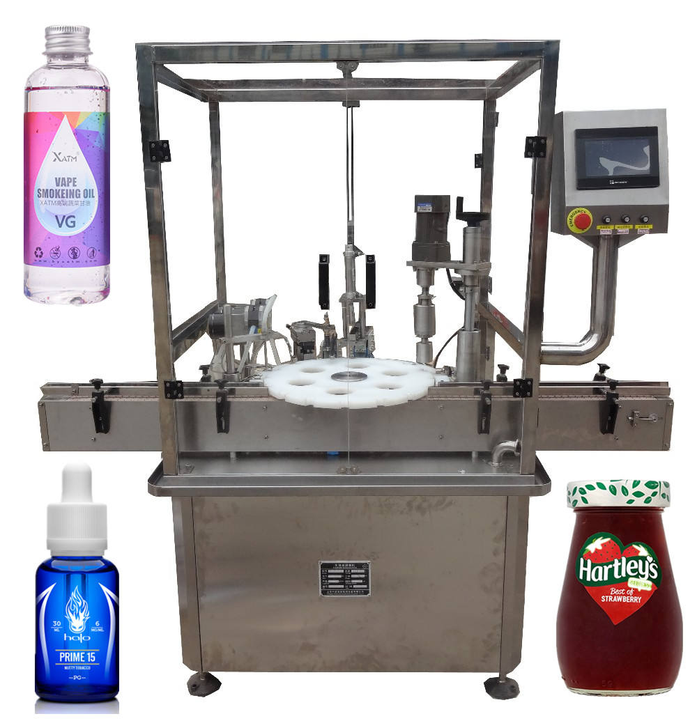 Fully automatic vials liquid filling stoppering capping machine vials filling machine