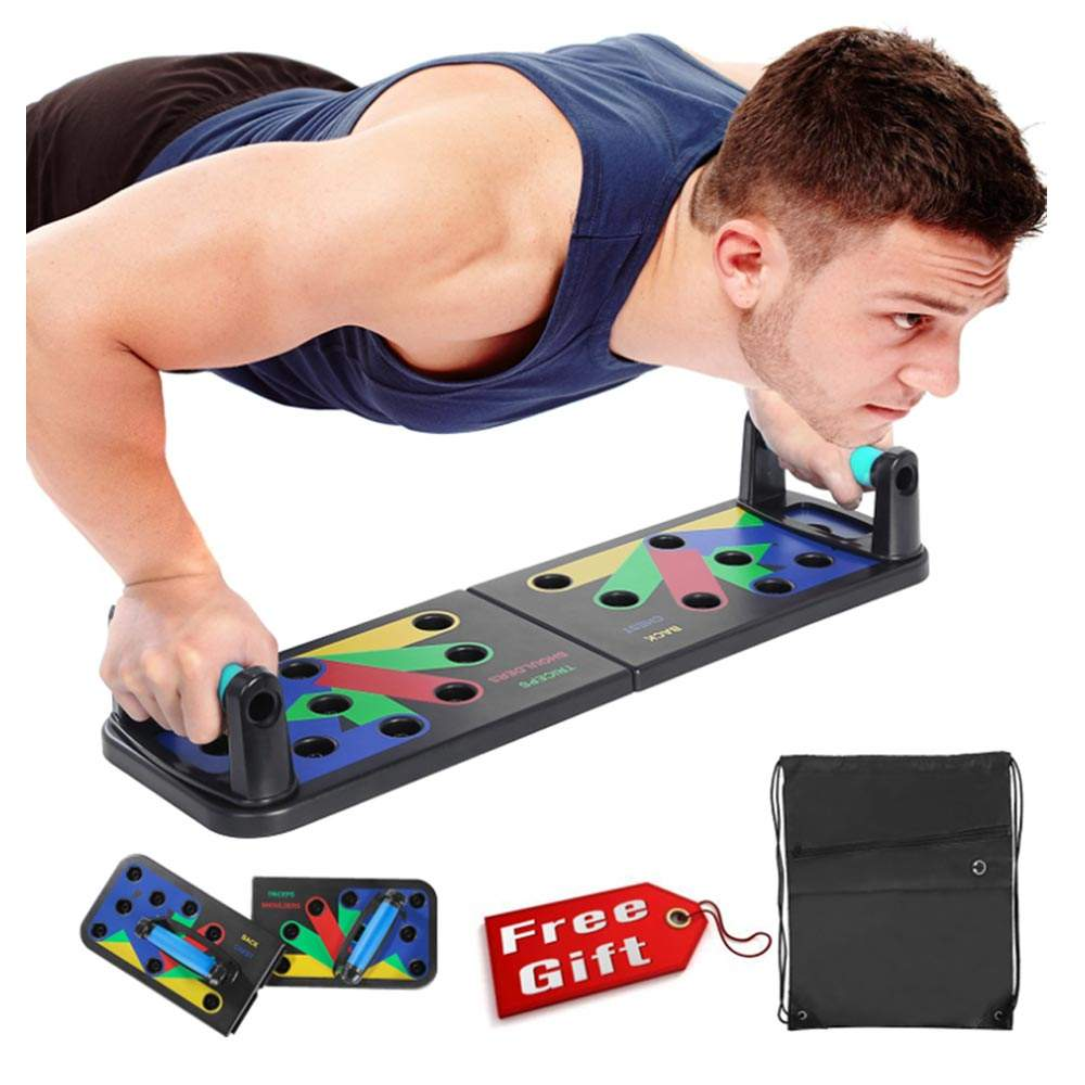 Portable Multi-function Foldable Home Fitness Strength Exercise Pushup Push-Up Rack Handle Stand Push-Up Board