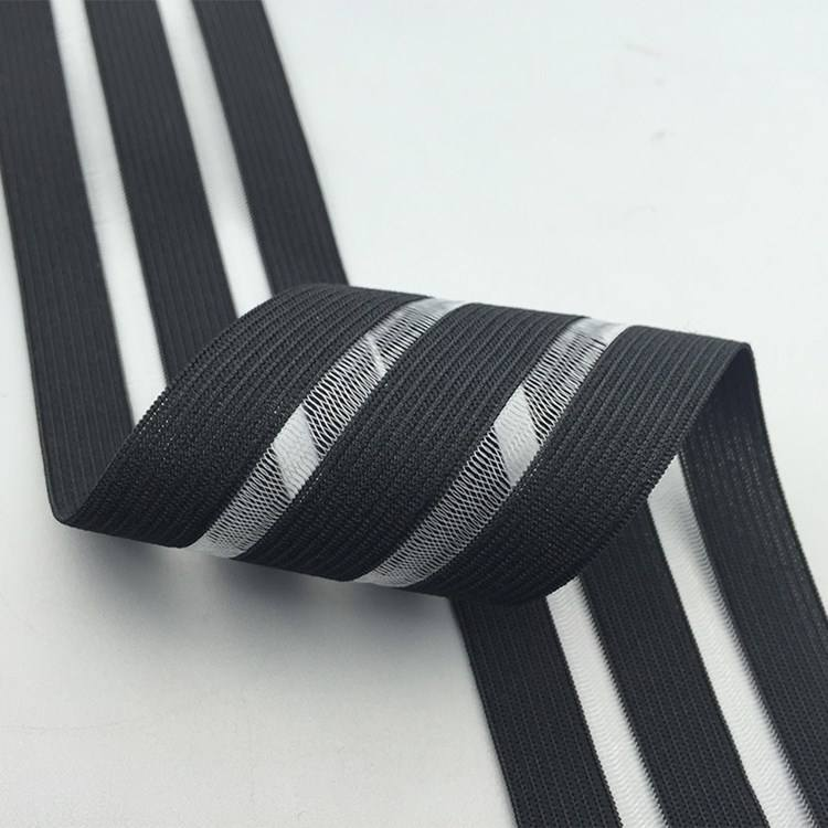 Breathable Customized Width Soft and Comfortable Knitted Fish Line Elastic Band for Sports Underwear