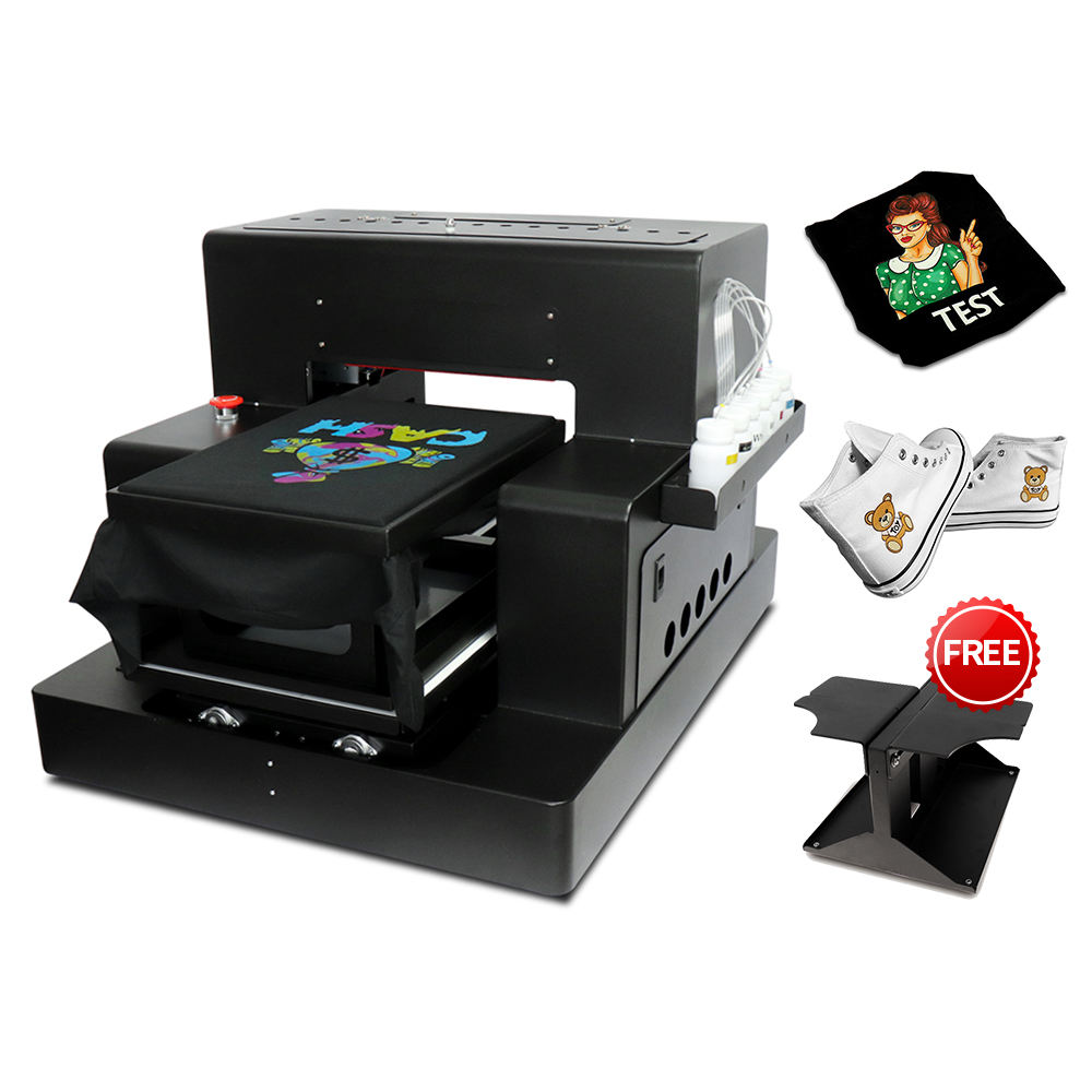 A3 Flatbed Printer A3 DTG Printer for t shirt For Canvas Shoes Bag t-shirt Printing Machine With t shirt Holder
