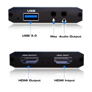 4K @ 30hz hdmi USB HD Video Audio Game Capture Karte Gerät für 1080P 60FPS TV box Kamera Live-Streaming PS4 Spiel Box Recorder