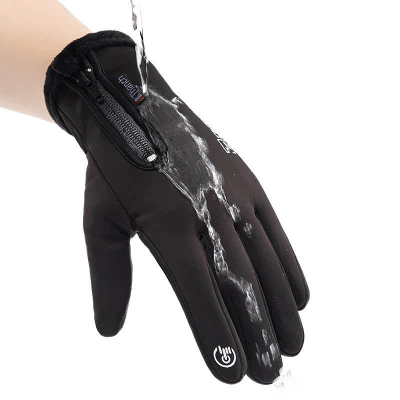 Winter Outdoor Sport Waterproof Touch Screen Thickened Warm Gloves For Man