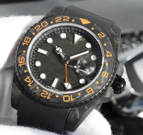 mechanical automatic movement Black carbon fiber watch case water ghost sports diving men's watch