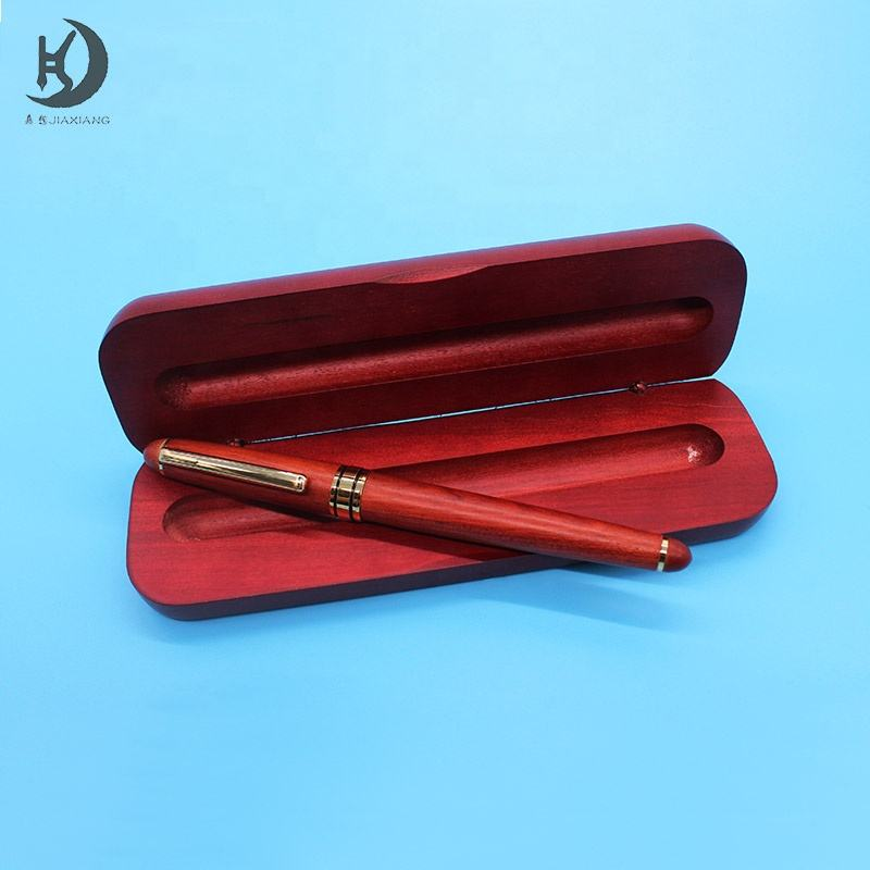 Good quality cheap red luxury wood pen gift pen with custom logo