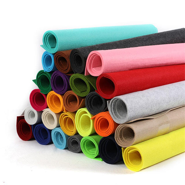color soft felt wool 100% 1mm 2mm 3mm felt wool fabric roll factory price