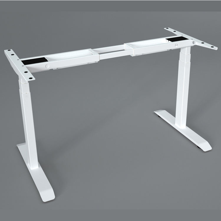 Ergonomics Electric Dual Motor Height Adjustable Standing Desk frame with 3 segments Lifting column