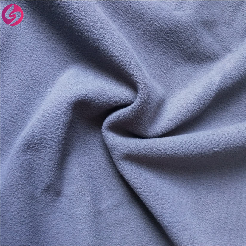 100%Polyester 100D polar fleece bonded with TPU softshell fleece fabric material for windstopper jacket