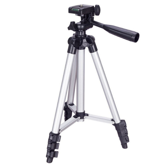 103cm 1m Foldable metal Aluminum flexible tripied 3110 tripod camera carbon stand fiber holder with mobile clip for smartphone