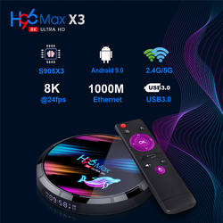TV BOX 4k S905X3 android 9.0 TV BOX 4G/32G Support wireless connection, bluetooth connection H96MAX X3