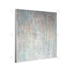 Fine art modern Silver white large abstract canvas painting