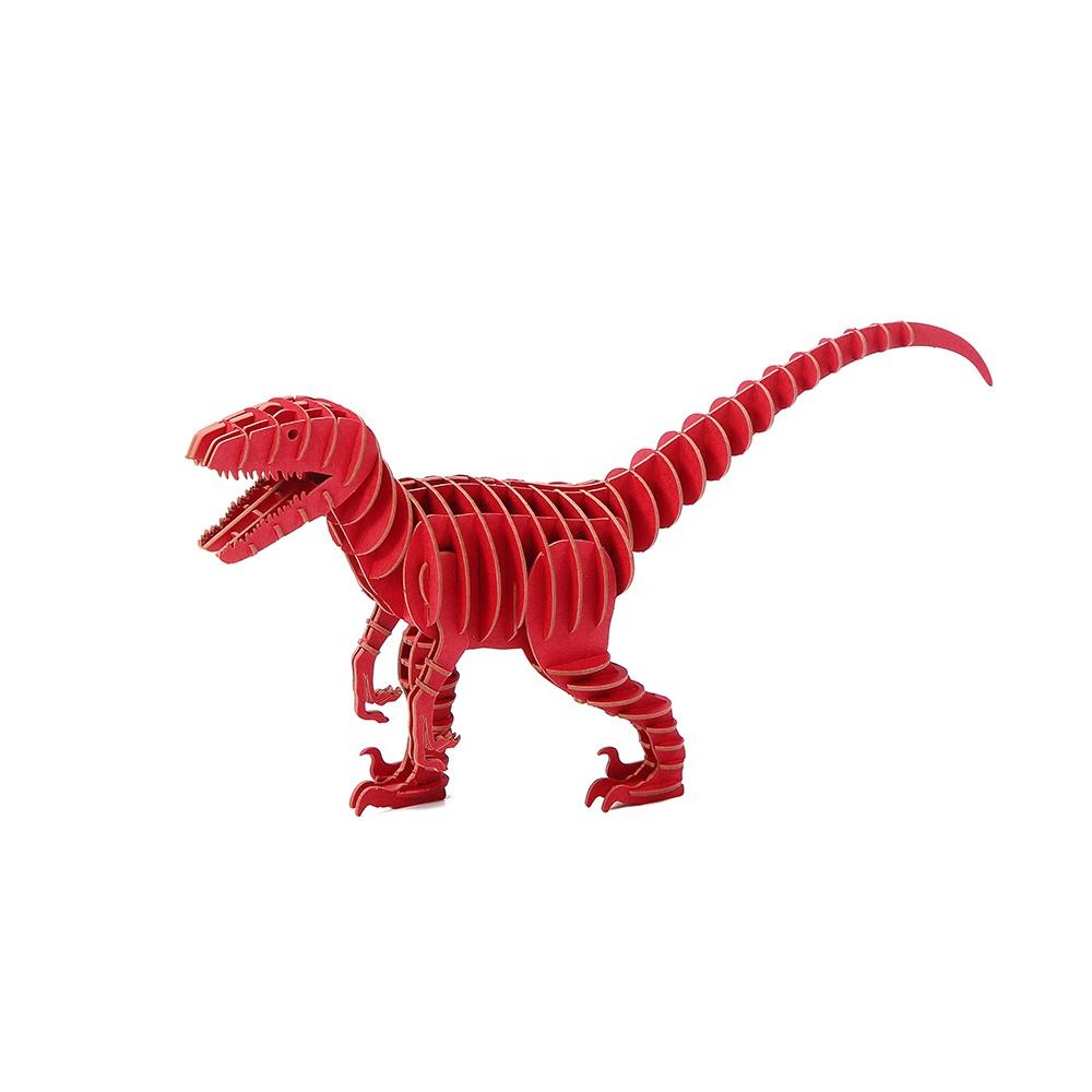 Educational assembly toys diy dinosaur paper jigsaw 3d puzzles
