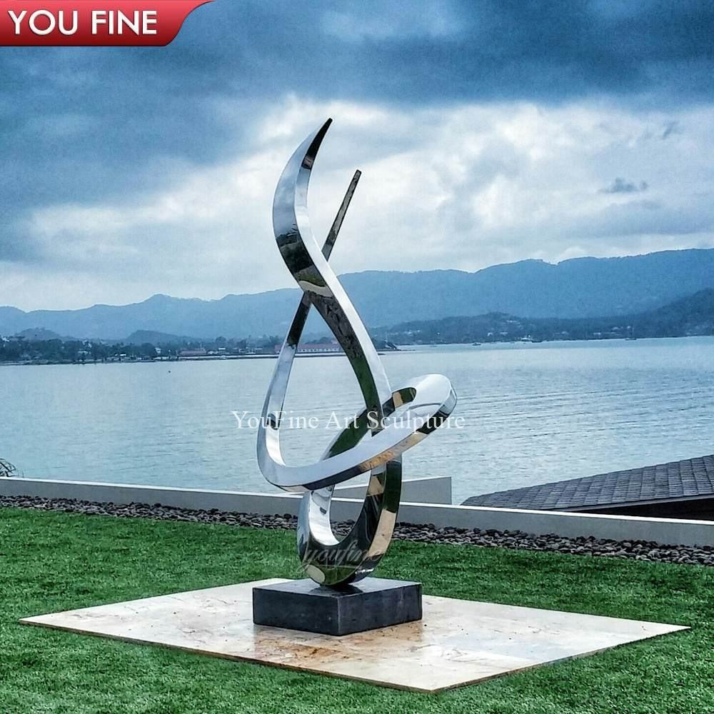 Modern Outdoor Decoration Abstract Stainless Steel Sculpture For Garden