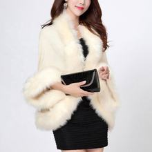 Winter New Women Knitted Cardigans Fox Fur Capes Women Coats