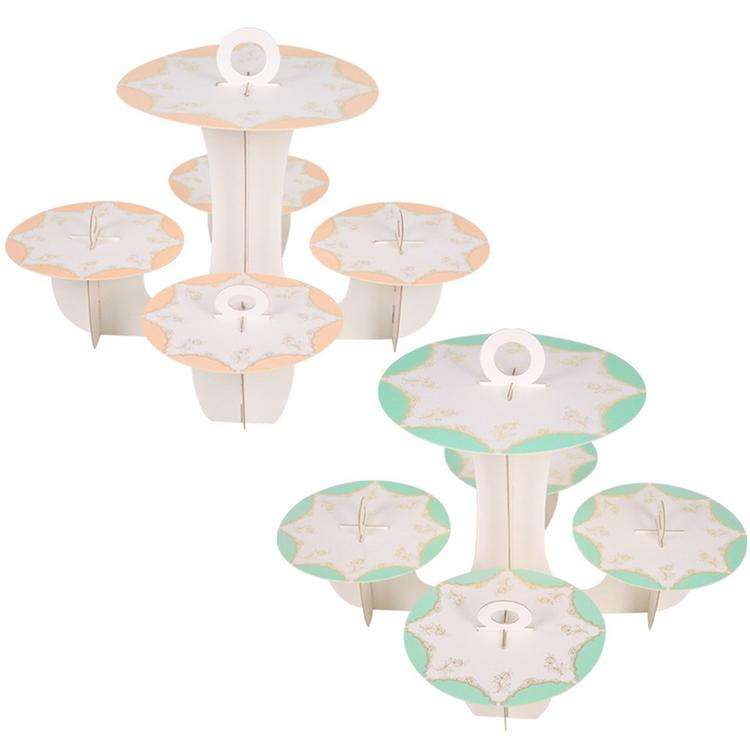5 Tier Cake Stand Wedding Party Disposable Round Birthday Cupcake Dessert DIY Paper Craft Stand Wedding Party Supplies