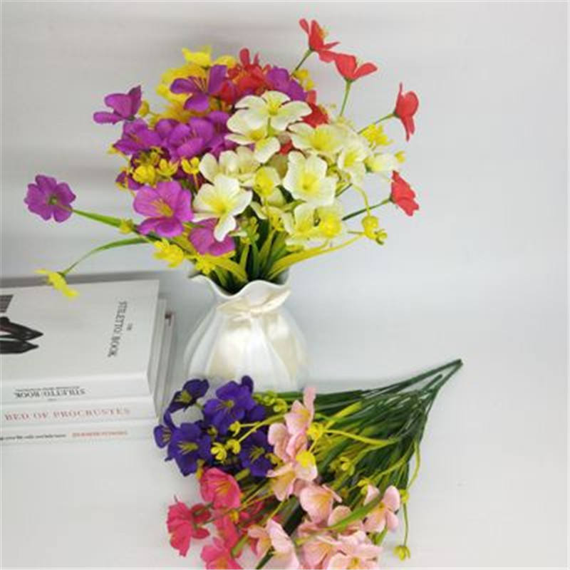 Cheap wholesale artificial silk fabric flowers orchid bonsai home decor china