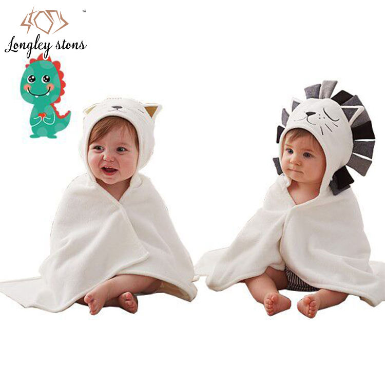 baby hooded towel animal pattern baby bath towel wholesale