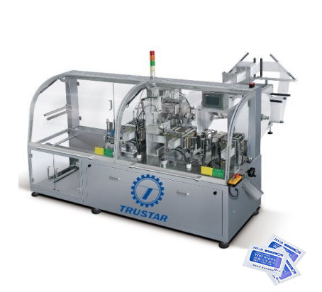 High Quality PLC Control 220v automatic wet wipes facial making machine Alcohol Prep Pads packing machine