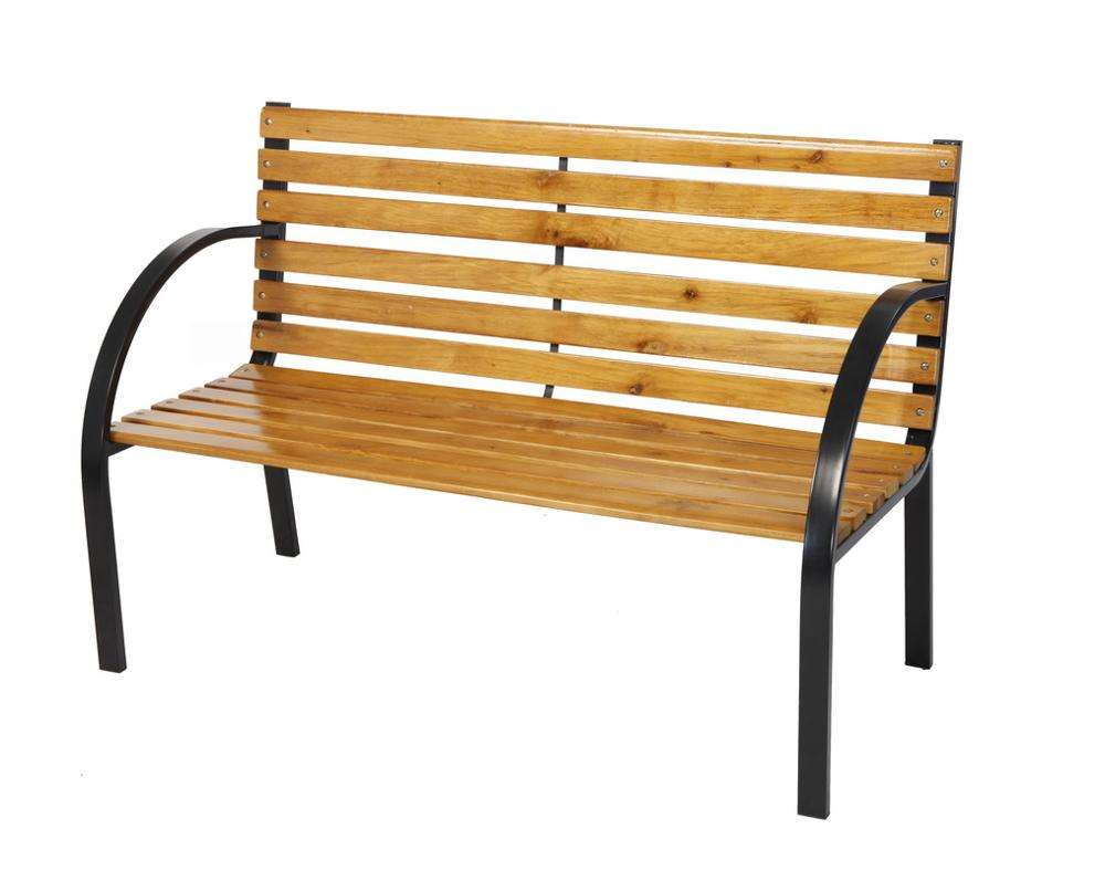 High Quality Outdoor Steel Garden Bench Plastic Wood Park Bench