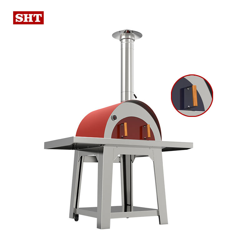 Backyard bbq used equipment Stainless steel freestanding wood fired pizza oven wood burning stove for outdoor