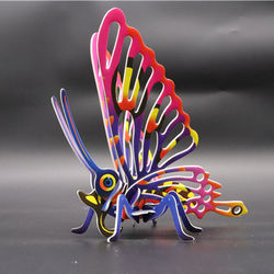 Baby Toy   hot selling Butterfly Model 3D Butterfly Insect Model Puzzles Educational Toy 3D Puzzle