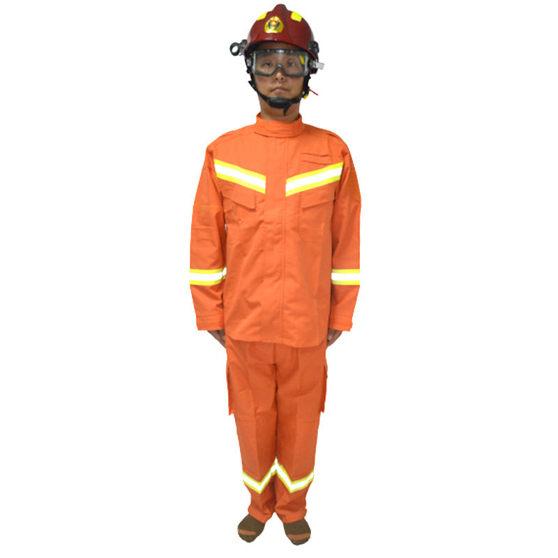 Heat Insulated Professional Fire Entry Suit Anti Thermal Radiation Firefighting Suit Split Breathable Fireman Suit