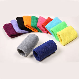 HUALIAN Custom Unisex Terry Cloth Cotton Sweatband Sports Wrist Tennis Yoga Sweat WristBand