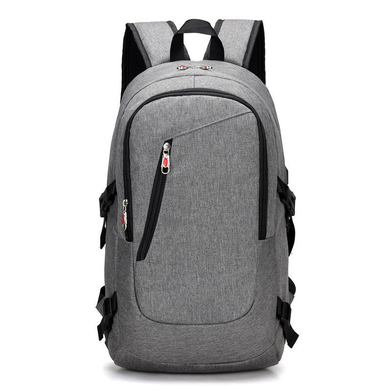 QXX Double Shoulder Travel Bag Mens Casual Outdoor Sports Bag Fashion Trend College Student Bag Lightweight Large Capacity Backpack Black