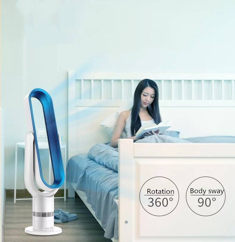 Portable Electric Remote Control Floor Air Condition Cooling electric Intelligent Table Bladeless fan