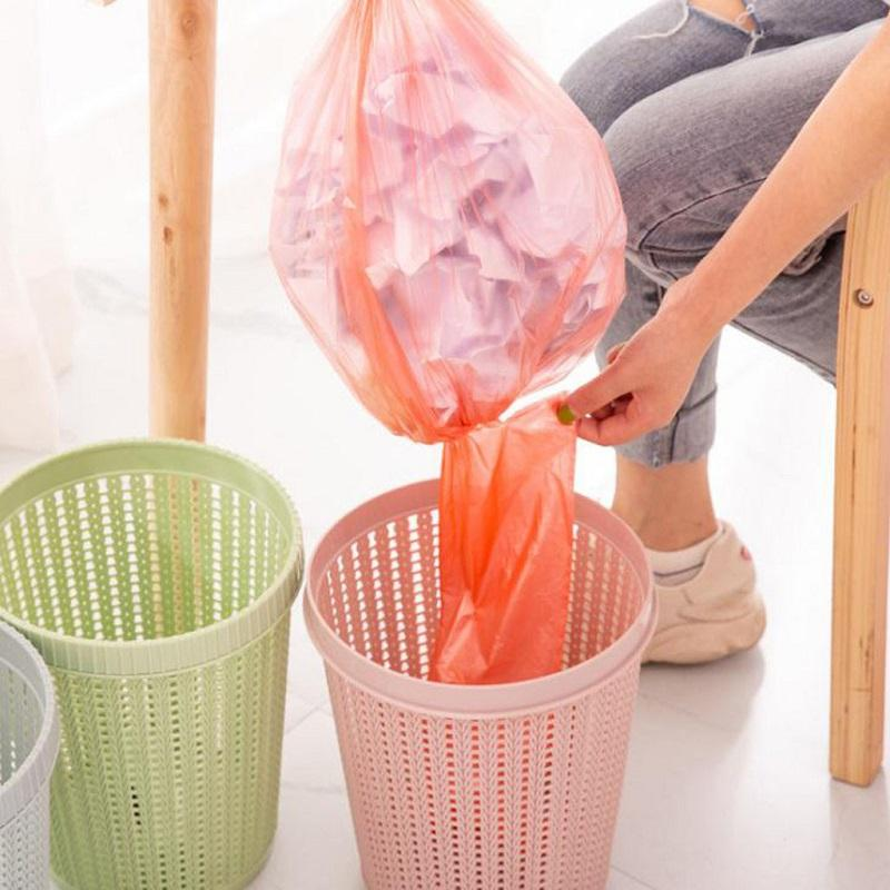 Waste Bins With Trash Bag Creative non-removable garbage bags Hollow Trash Can Creative Living Room Bedroom kitchen Trash Can