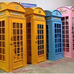 British Vintage Aluminum Old Cell Phone Booths For Sale