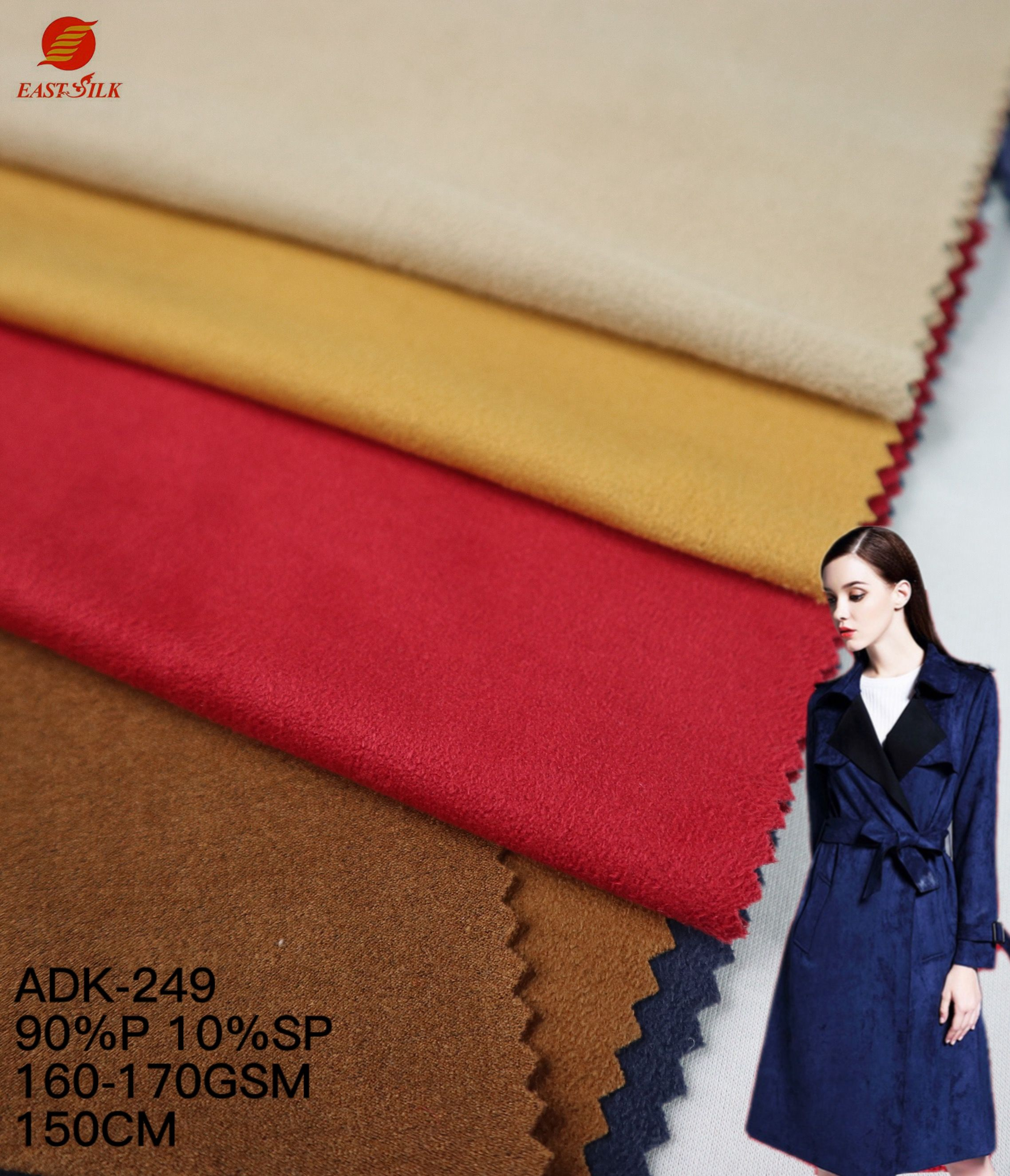 Fabrics Textile Fabric Best Textiles Single Face Stretch Knitted Sueded Jersey Polyester Suede Fabric