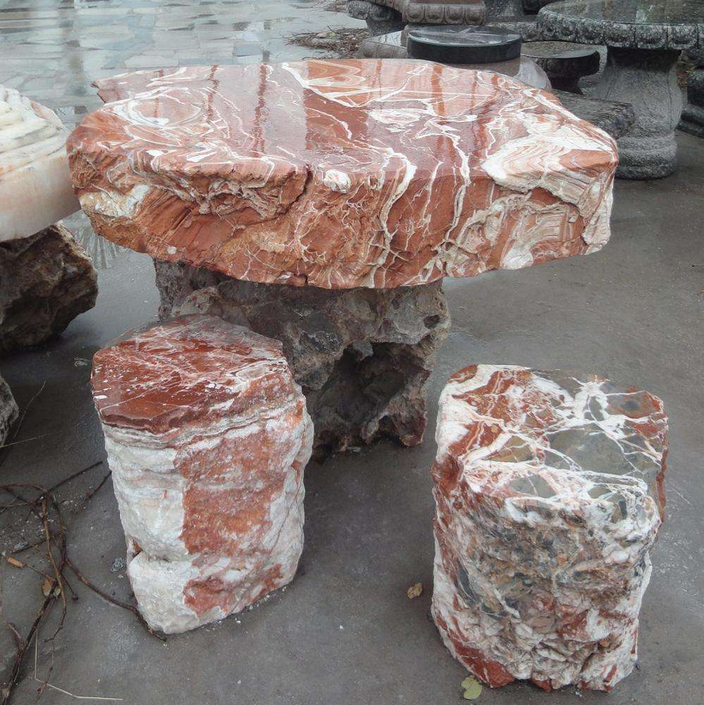 new hot selling garden natural stone table set