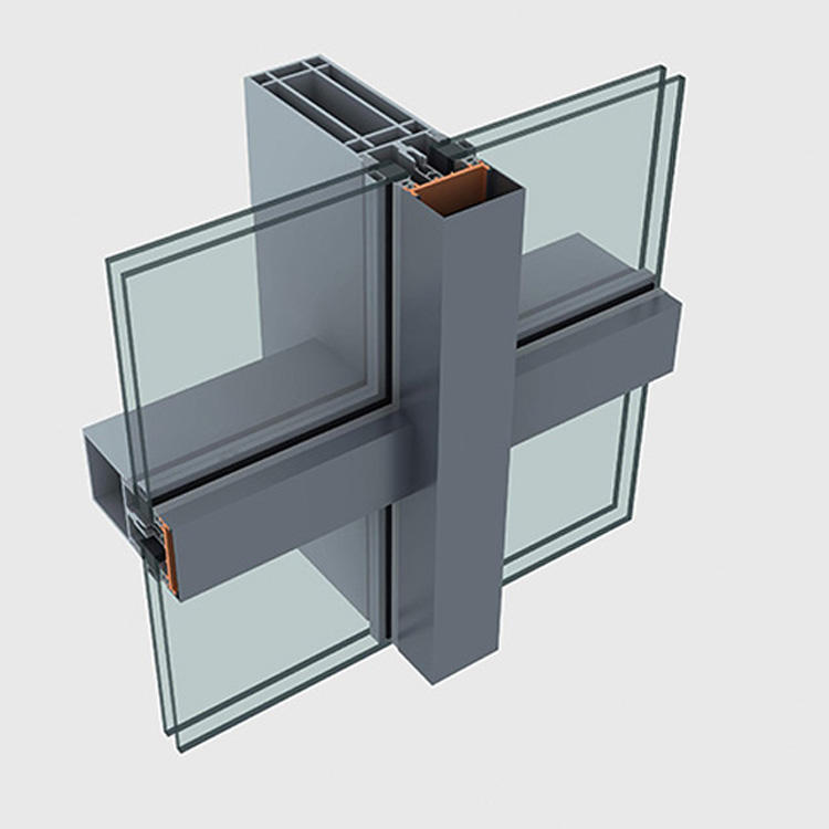 Modern design exterior structural glass facade building aluminum curtain wall