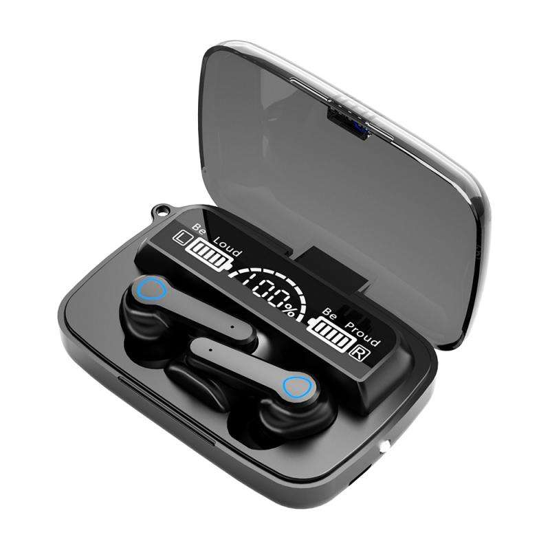 New M19 Wireless Headphones 5.0 TWS F9 Headset HIFI Mini In-ear Earbuds iOS Android Sports Earphone with 2000mAh Battery