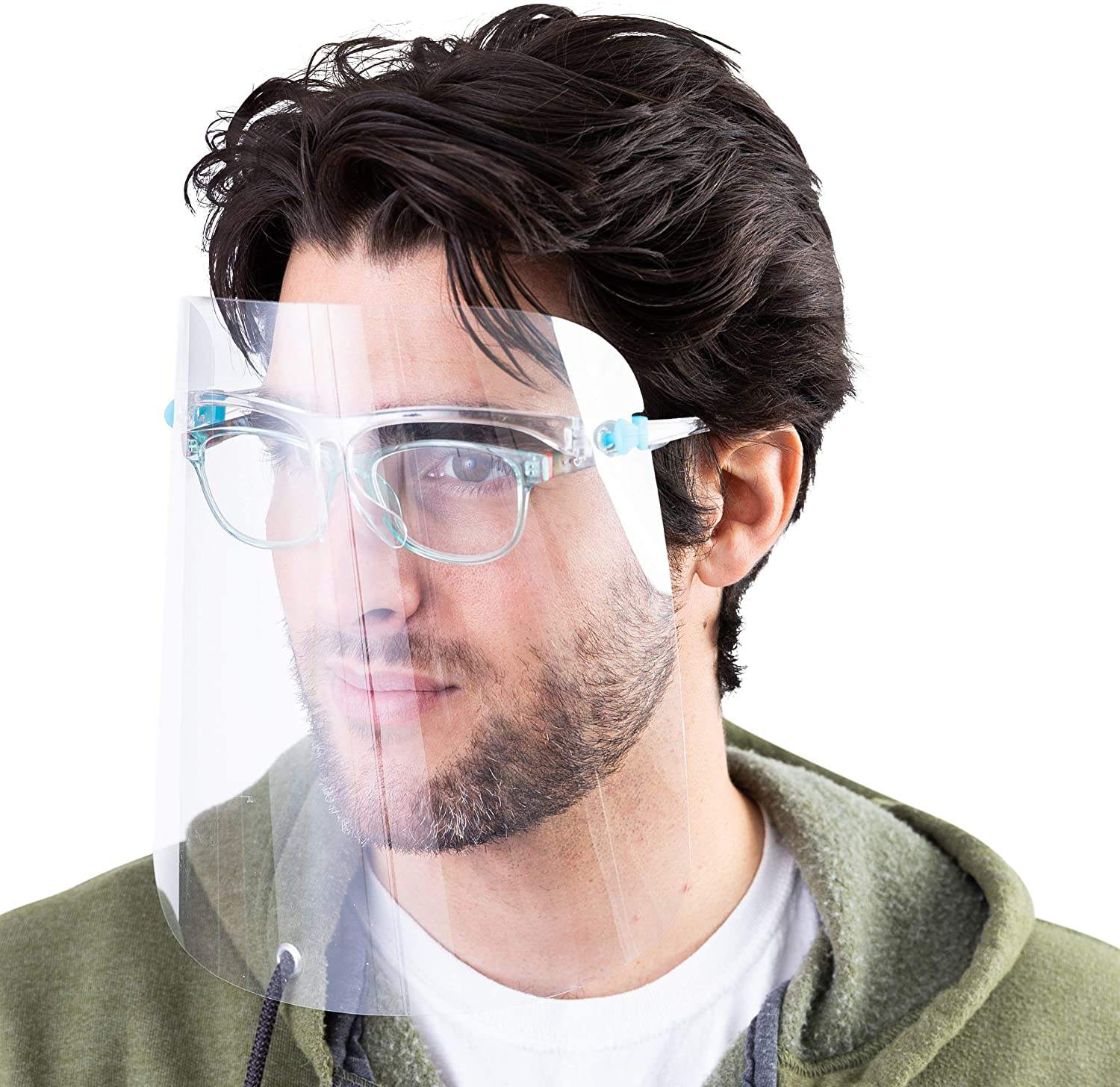 Hot Sale Glasses Frame Transparent Safety Face Cover Shield Hood Transparent plastic face shield manufacturer