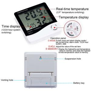 Indoor Large Scree LCD Electronic Temperature Humidity Digital Hygrograph Thermometer HTC 1