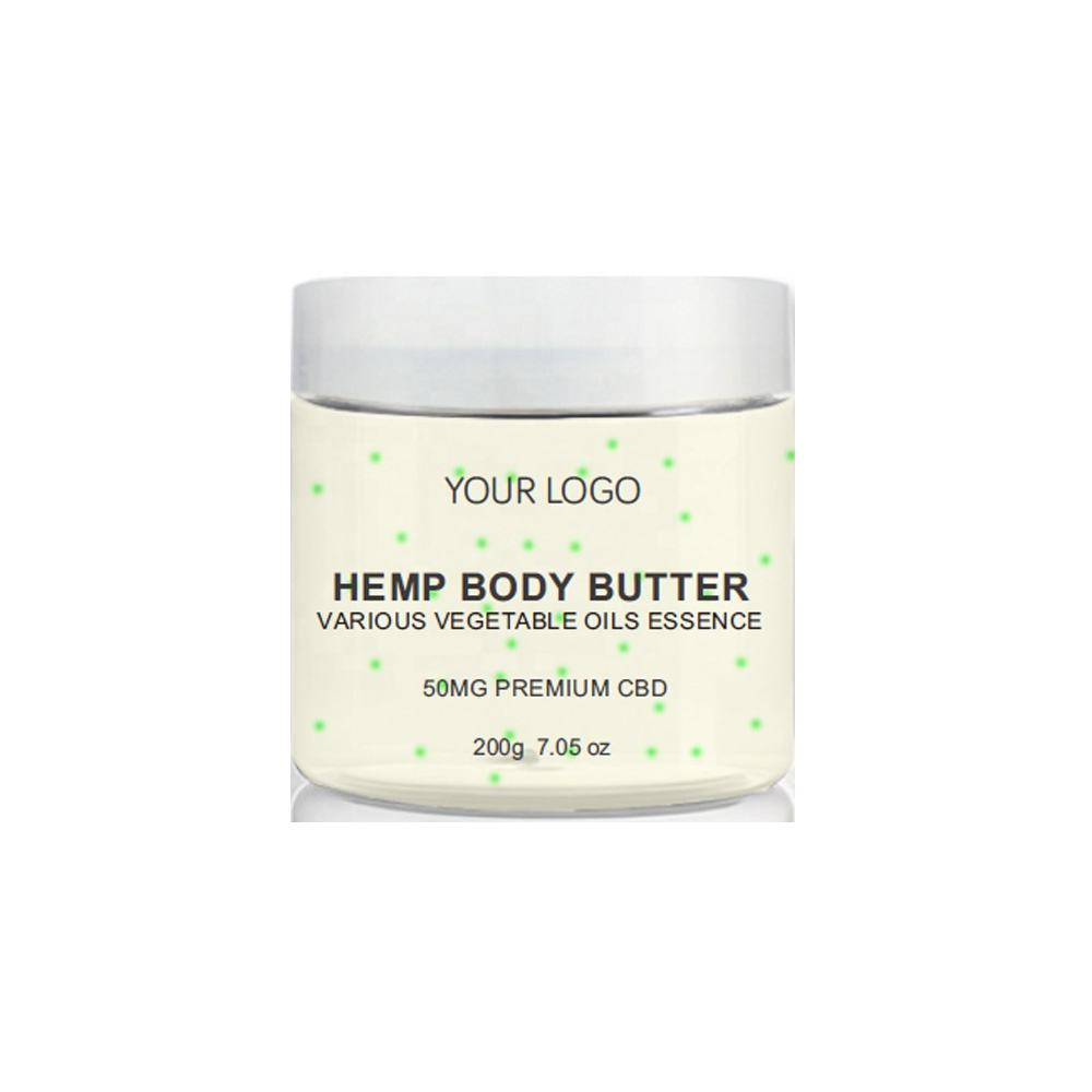 OEM Private Label Shea Butter Organic Moisturizing Hydrating Calming Relief Soothing Hemp Oil Hemp Butter CBD Lotion Body Butter