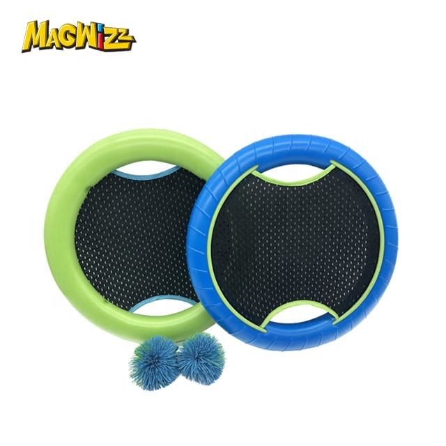 EVA foam flying disc trampoline paddle bal koosh ball game <span class=keywords><strong>racket</strong></span> set