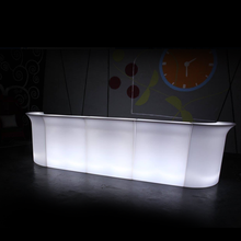 modern design illuminated led party bar table counter rechargeable remote control colors changing led event bar counter