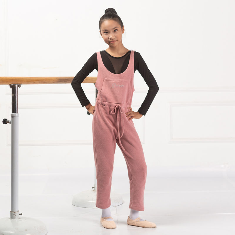 Wholesale Black Child Dance Pants Ballet Warm Up Overall For Girls