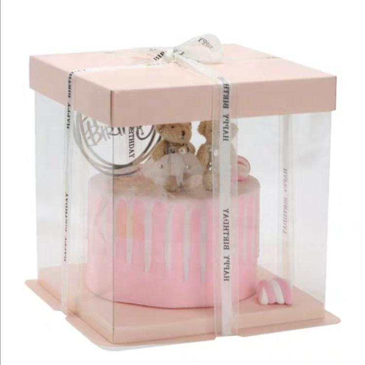 China factory cheap customized cake packaging box with window