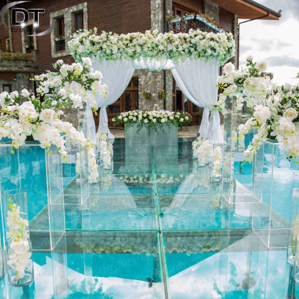 Plexiglass Pool Cover Wedding Glass Stage Used Portable Perfect For Wedding Party Event Show In Sale Wholesale In China