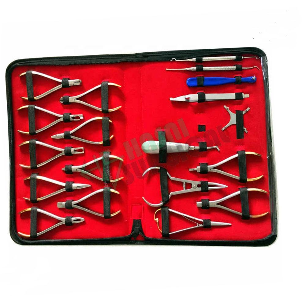 Standard Selling 18 Pieces Basic Orthodontics Dental Instruments Set Composite Kit Premium Quality By HASNI SURGICAL