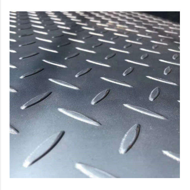 Q235 GB standard tear drop plate floor plate galvanized mild iron steel checker plate ex-mill price