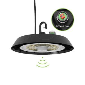 רב פונקצית 3CCT כוח לבחירה Bi רמת חיישן Dimmable IP66 UFO Led Highbay אורות עם DLC ETL